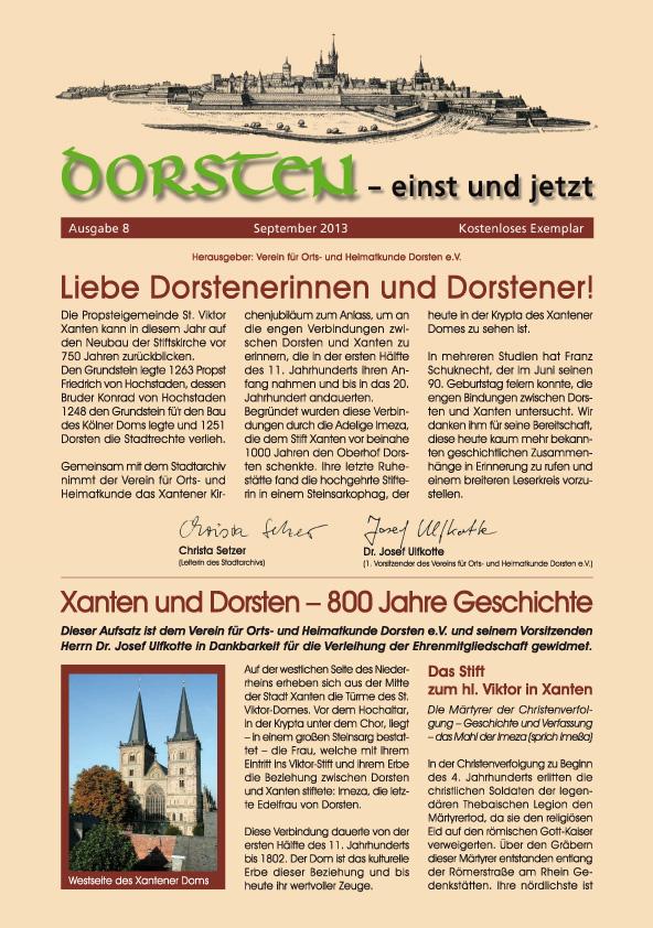 Download der kostenlosen 'Einst und Jetzt' - Ausgabe Xanten und Dorsten